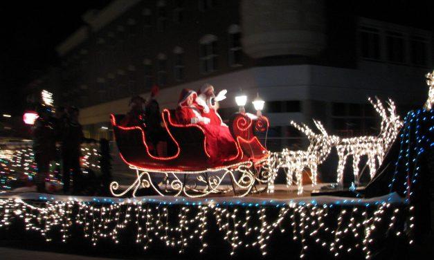 Holiday Light Parade, Rain or Shine!