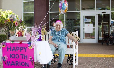 Marion McKie Enjoys 100th Birthday Parade