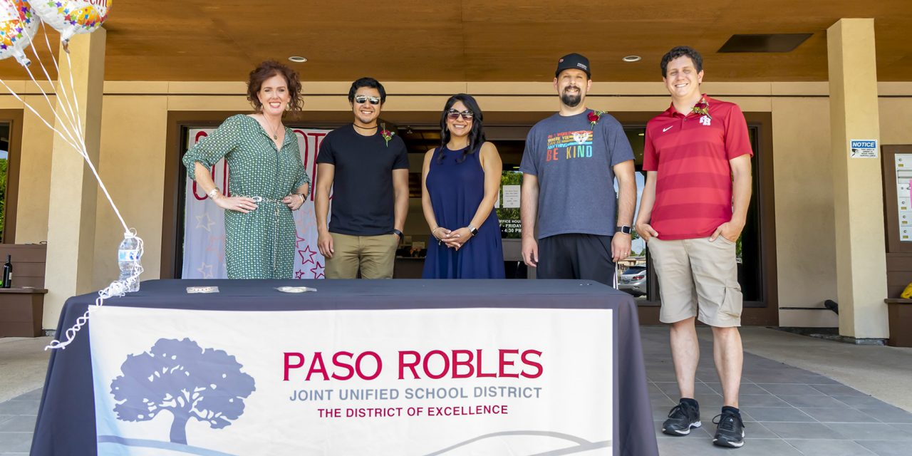 Parking Lot Parade Honors District Awardees