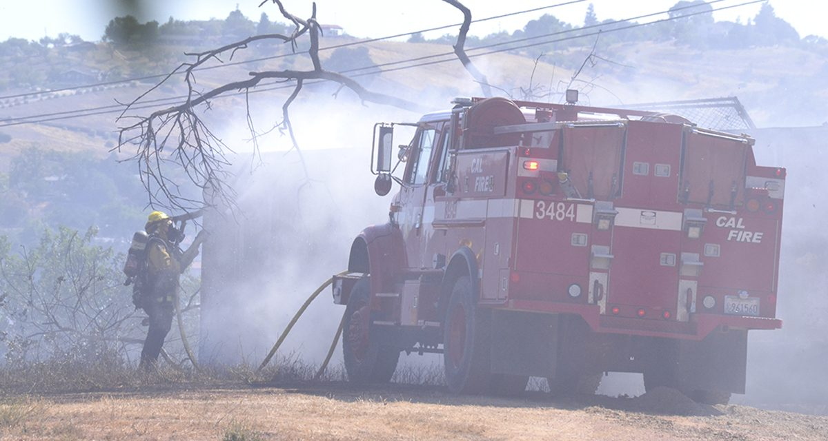UPDATED: Firefighters Contain Blaze in Paso Robles