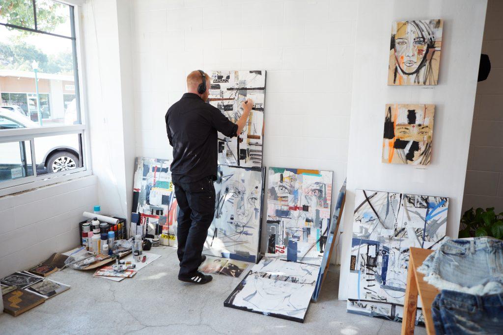 Artist Adam Eron Welch