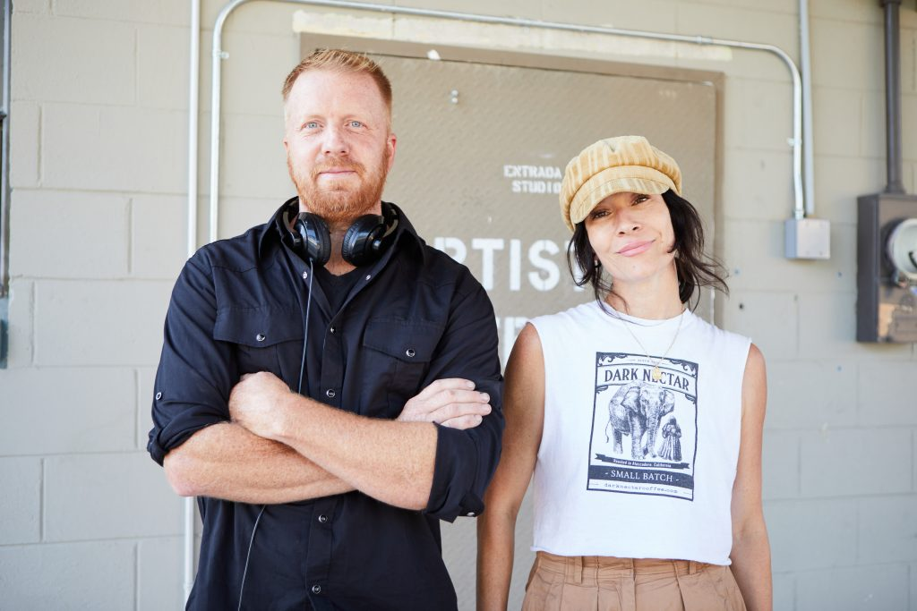 Artist Adam Eron Welch and Farron Elizabeth Walker