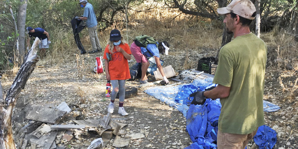 Beaver Brigade Cleans Up More Abandoned Homeless Camps in Atascadero