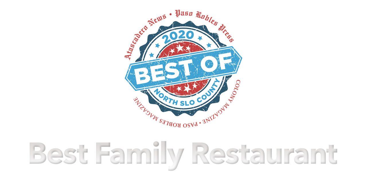 Best of 2020 Winner: Best Family Restaurant