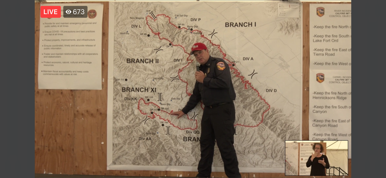 CAL Fire Press Conference Gives an Update on the River and Carmel Fires