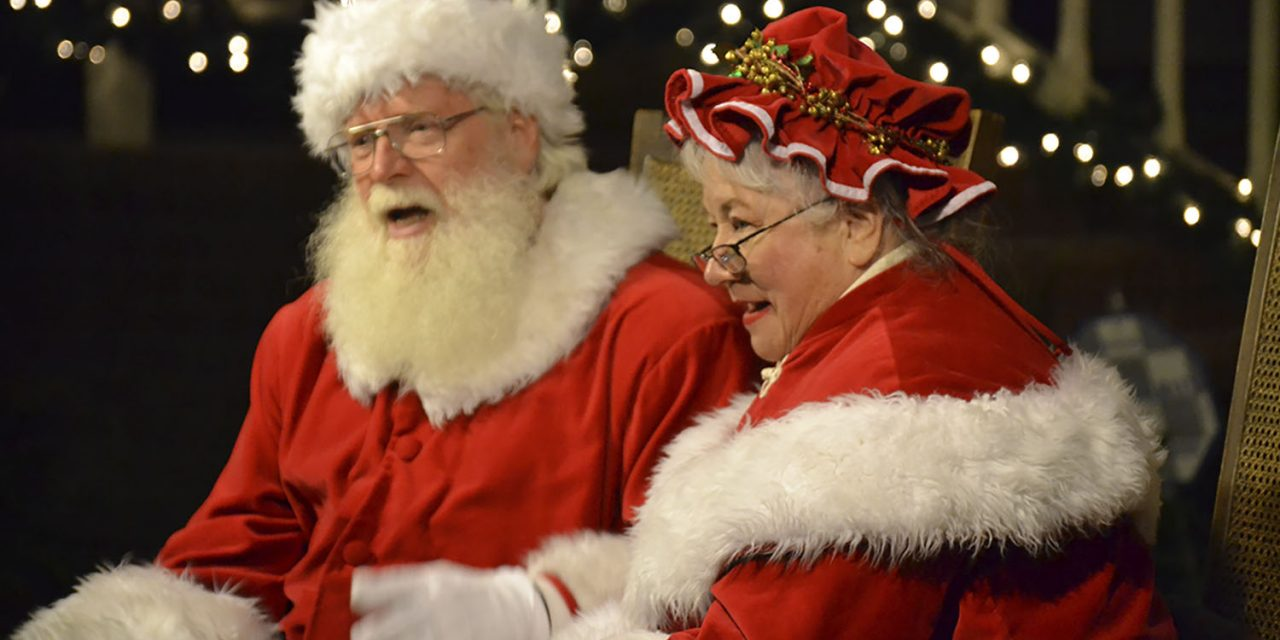 Santa and Mrs. Claus in City Park Holiday House Dec. 6-24