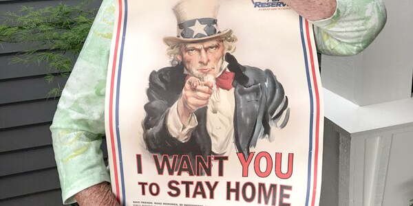 Uncle Sam says 'Stay Home'