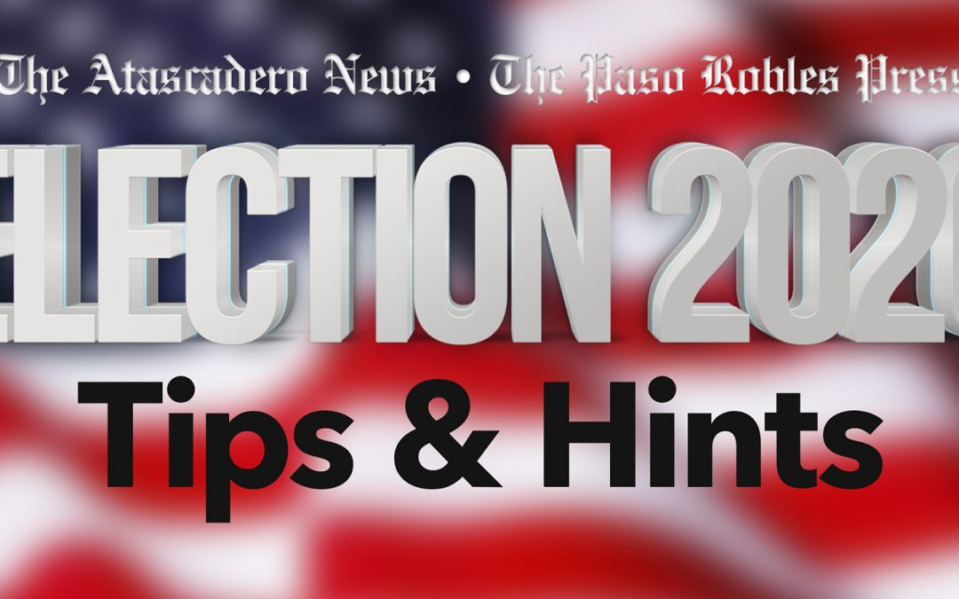 Election Day Tips from SLO County Recorder
