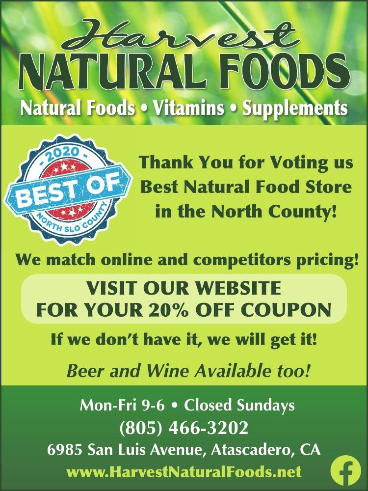 Harvest Natural Foods Best of 2020