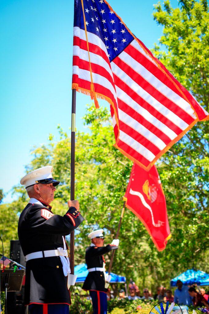 American Flag Color Guard Sculpterra 4th of July
