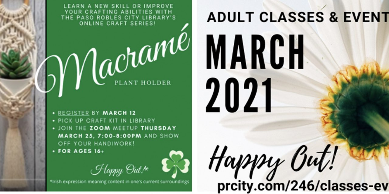 Paso Robles Library Announces March Events