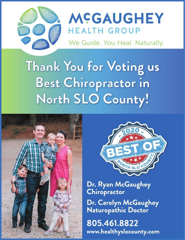 Best Chiropractor of North SLO County 2020