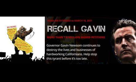 Recall Gavin 2020 Campaign Reaches 1,825,000 Signatures