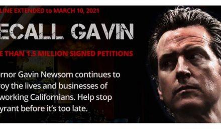 'Recall Gavin Newsom' Campaign Reaches More Than 1.5 Million Signatures