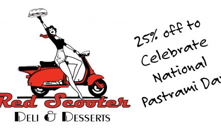 Red Scooter: Take 25% Off for National Pastrami Day