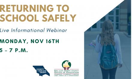 Returning to Schools Safely in SLO County: Live Informational Webinar on Nov. 16