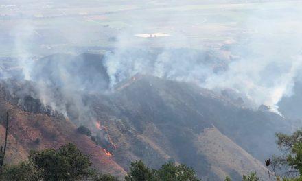 Smoke from River Fire Near Salinas Drifting into SLO County