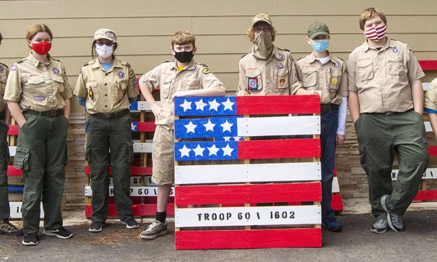 Community Supports Paso Robles Scout Troops by Purchasing Pallet Flags