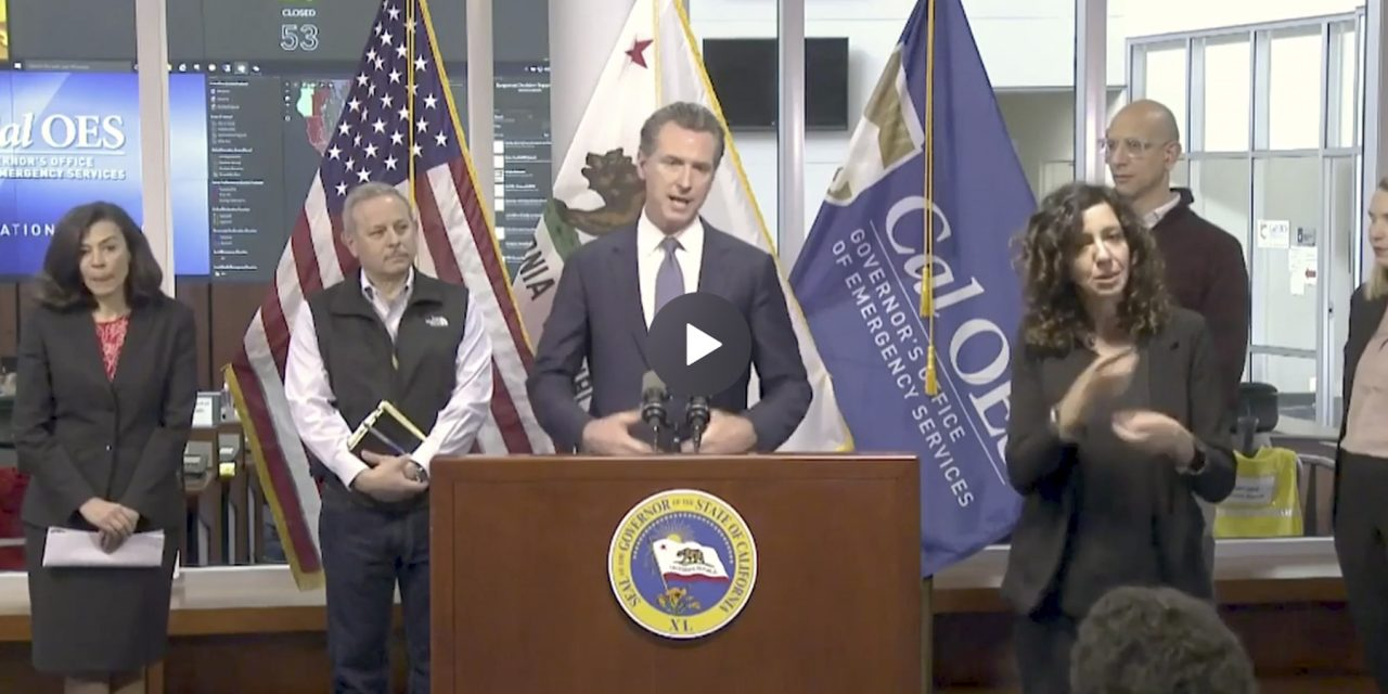 Newsom Warns 'Not Out of the Woods'