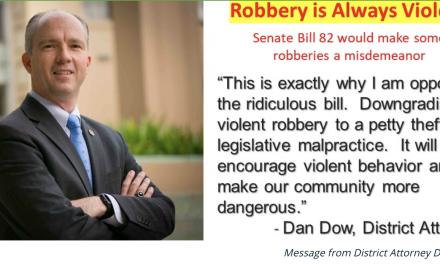 DA's Call for Withdrawal of Dangerous Petty Theft Legislation