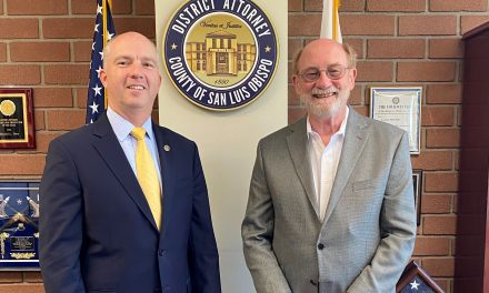 DA Dow Discusses Justice System With Senator Laird