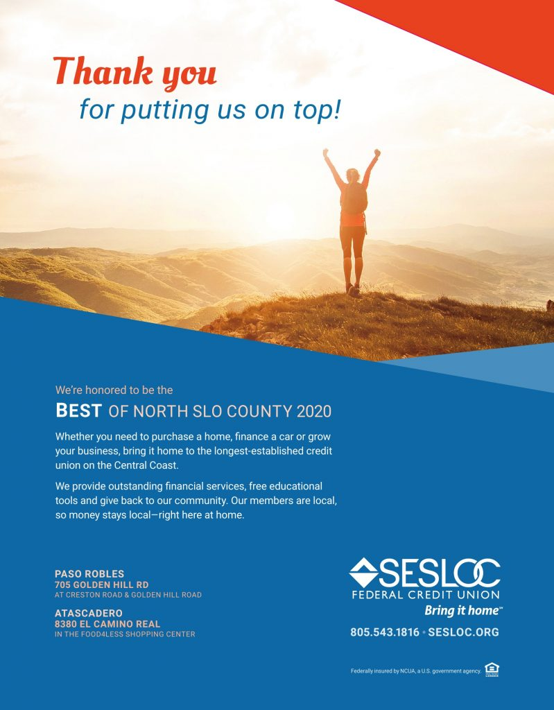 Best Bank of North SLO County 2020