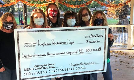 Templeton Recreation Department Receives Over $16K Donation from Templeton Recreation Foundation