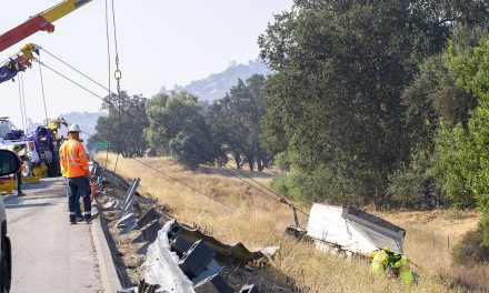 Truck Goes Off Southbound Highway 101 Near Santa Barbara Road