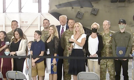 President Trump Recognizes the Calif. Army National Guard for Harrowing Rescue