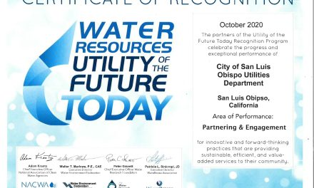City of San Luis Obispo's Utilities Department Recognized as 'Utility of the Future Today'
