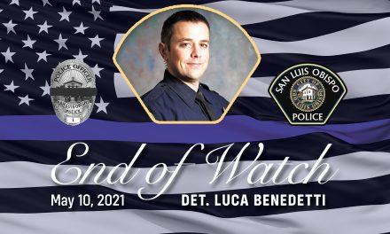 Honoring SLO Detective Luca Benedetti