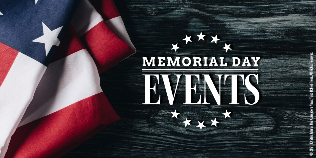SLO County Memorial Day Weekend Events